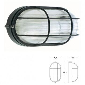 Plafoniera Ovale Grande con gabbia Art. 703/06 Nero/Bianco