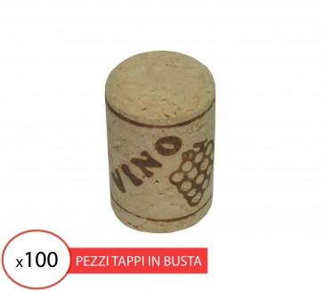 Tappo sughero agglomerato 24x40 per vino (100 pz)