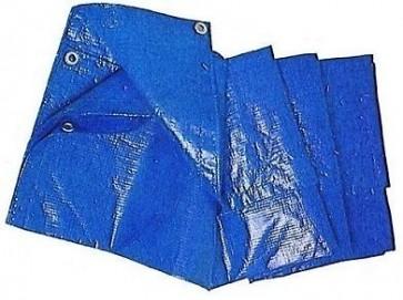 Telone Telo Occhiellato 6 X 8 Piscina Antipioggia 17690 Blu Copertura Occhielli