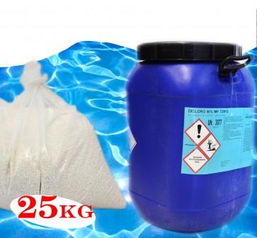 Dicloro per Piscine 56% Granulare KG25 CLORAZIONE SHOCK