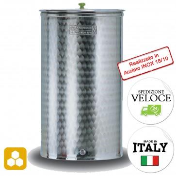 """Contenitore Miele 2"""" Cordivari VINOLIO fondo piano da 300 a 1000 litri"""