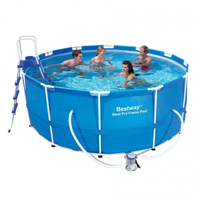 Piscina fuori terra bestway 56420 cm 366 h122 con pompa for Accessori piscine fuori terra bestway