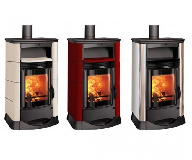 Stufa a olio stufa a legna thermorossi vision inox maiolica ventilata e - Stufe a olio elettriche ...