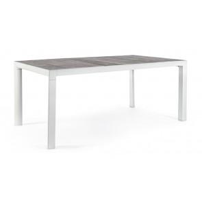 Tavolo in Alluminio e Piano in Ceramica Bizzotto Mason 160x90cm Lunar