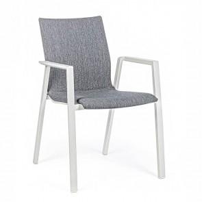 Sedia in Alluminio Bizzotto C-BR Odeon Lunar