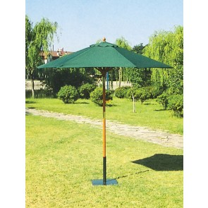 Ombrellone da esterno giardino TONDO verde in legno palo 38 diametro 250