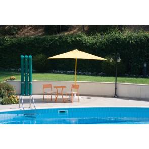 Ombrellone da esterno giardino BRASIL alluminio 200x300 top poliestere