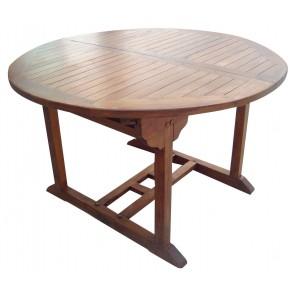 Tavolo Giardino RIVIERA tondo in legno balau 120/160x75h