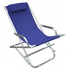Playa Sedia Sdraio In Alluminio Blu