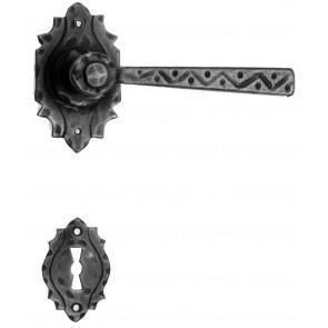 Maniglia Rustica per Porta in ferro battuto Galbusera Art.17 Nero Antico