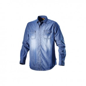 Diadora Utility SHIRT DENIM NEW BLUE WASHING da S a 3XL