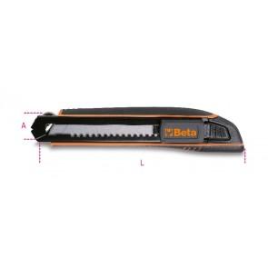 Cutter Lama A Spezzare Hd 18mm + 6 Lame BETA Cod. 1771HD