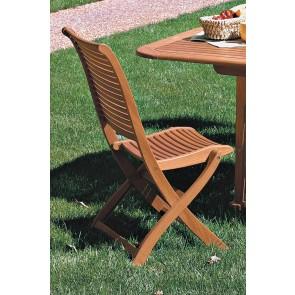 Sedia Pieghevole RIviera legno balau 63x53x95h per esterno giardino