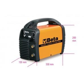 Beta Saldatrici inverter ad elettrodo in corrente continua (DC). adatte per motogeneratori, compatte e facili da trasportare fornite di valigetta, cavi, martospazzola e tracolla. 1860K/160A
