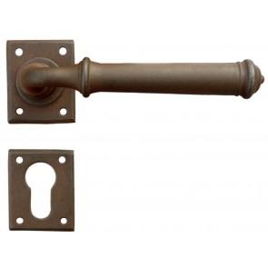 Maniglia Classica per Porta in ferro battuto Galbusera Art.1901 Ruggine