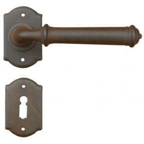 Maniglia Classica per Porta in ferro battuto Galbusera Art.1902 Ruggine