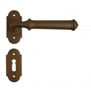 Maniglia Classica per Porta in ferro battuto Galbusera Art.1904 Ruggine