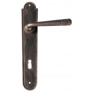 Maniglia Classica per Porta in ferro battuto Galbusera Art.2109 Nero Ramato