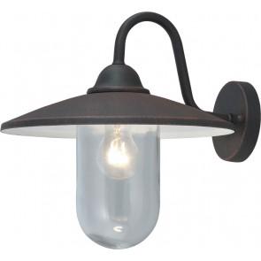 Lanterna da giardino PORTOFINO 15x15x35h corpo alluminio nero opaco vetro lampada 60w