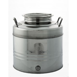 Contenitore Acciaio Inox per Olio Lt.30