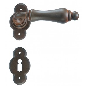 Maniglia Classica per Porta in ferro battuto Galbusera Art.2501 Ruggine