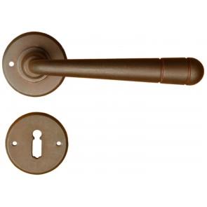 Maniglia Classica per Porta in ferro battuto Galbusera Art.3-16 Ruggine
