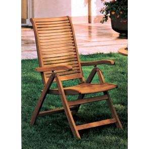 Poltrona Pieghevole legno balau 5 posizioni 58x64x106 per esterno giardino
