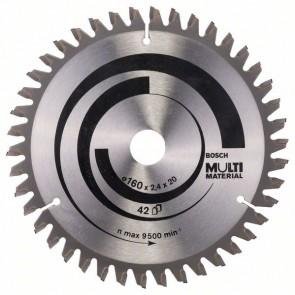 Bosch Lama per seghe circolari Multi Material 160 x 20/16 x 2,4 mm, 42