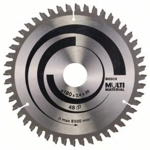 Bosch Lama per seghe circolari Multi Material 180 x 30/20 x 2,4 mm, 48