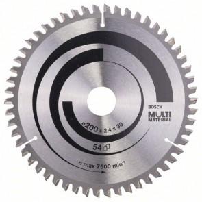 Bosch Lama per seghe circolari Multi Material 200 x 30 x 2,4 mm, 54