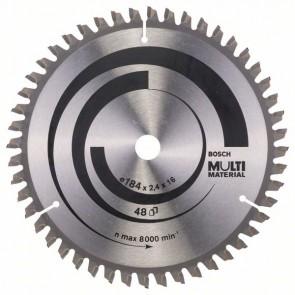Bosch Lama per seghe circolari Multi Material 184 x 16 x 2,4 mm, 48