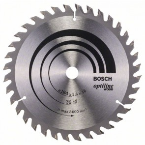 Bosch Lama per sega circolare Optiline Wood 184 x 16 x 2,6 mm, 36