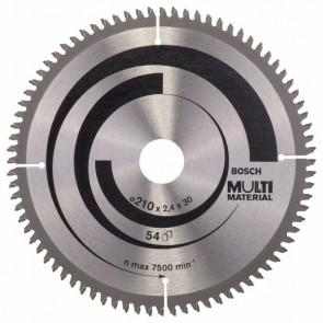 Bosch Lama per seghe circolari Multi Material 210 x 30 x 2,5 mm, 80
