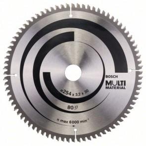 Bosch Lama per seghe circolari Multi Material 254 x 30 x 3,2 mm, 80