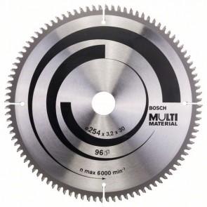 Bosch Lama per seghe circolari Multi Material 254 x 30 x 3,2 mm, 96