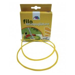 FILO PER DECESPUGLIATORE IN NYLON QUADRO  MM.3,3 X 10MT.