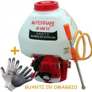 Pompa Irroratrice A Spalla Ferrari 38075 A Scoppio 25L + Guanto In Omaggio