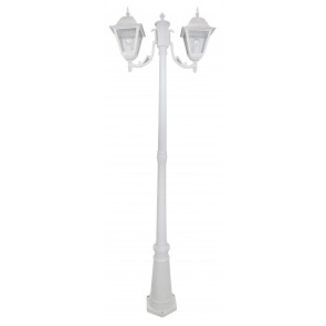 Lampione  New York  Cm 200 A 2 Luci Bianco
