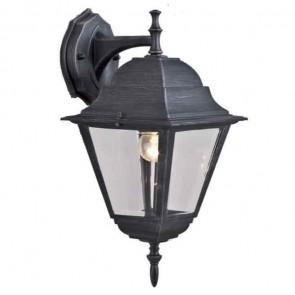 Lanterna da giardino BABY 15x15x35h corpo alluminio nero opaco vetro lampada 60w
