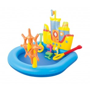Piscina Gonfiabile Play Center BESTWAY nave 52211 giochi 140x130x104h