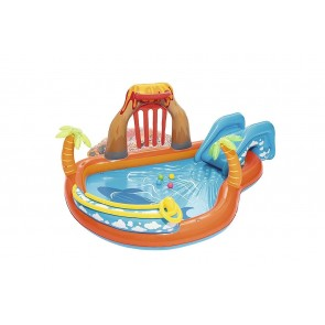 Piscina Gonfiabile Play Center BESTWAY 53069 Vulcano giochi 265x265x104cm