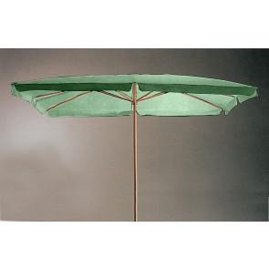 Ombrellone da esterno giardino verde in legno palo 48mm dimensione 200x300