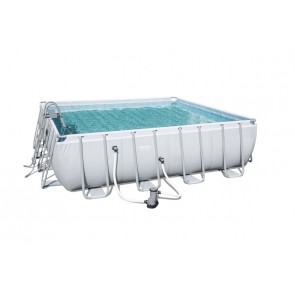 Piscina Quadrata Fuori Terra Bestway 56626 cm 488x488x122h Power Steel