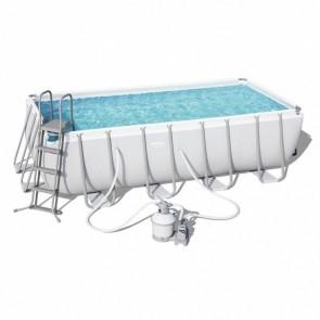 Piscina Autoportane Rettangolare Bestway 56671 488x244x122 filtro a sabbia Fuoriterra