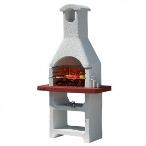 Barbecue in muratura a carbonella Sunday Grill MCZ CAYMAN griglia 67x40