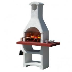 Barbecue in Muratura Carbonella e Legno BBQ SUNDAY MARTINICA LX
