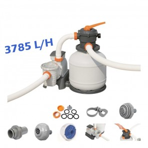 Pompa con Filtro a sabbia per pulizia piscina fuoriterra Bestway  58495 3785lt/h