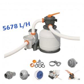 Pompa con Filtro a sabbia per pulizia piscina fuoriterra Bestway 58497 5678 L/H