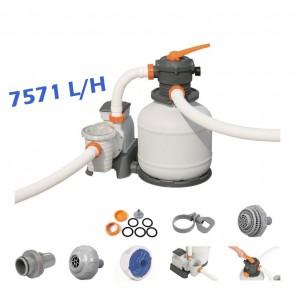 Pompa con Filtro a sabbia per pulizia piscina fuoriterra Bestway 58499 7571 L/H