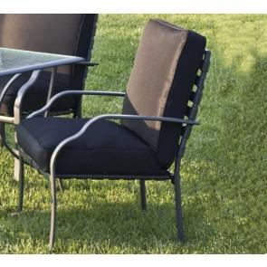 Poltrona da giardino con cuscino LUCREZIA 75x66x90h nera